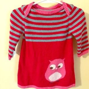 Mini Boden sweater dress with owl